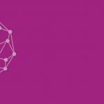White brain on purple background